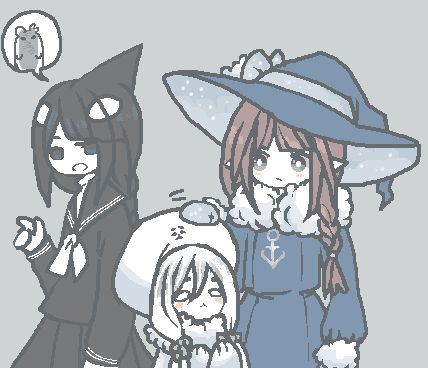 """Day 18: Cross over (two different characters from two different mogeko series) "" Oops there are three characters, but a while ago I drew a few comic strips about Wadanohara interacting with the Ice Scream cast. The story behind this was that after..."