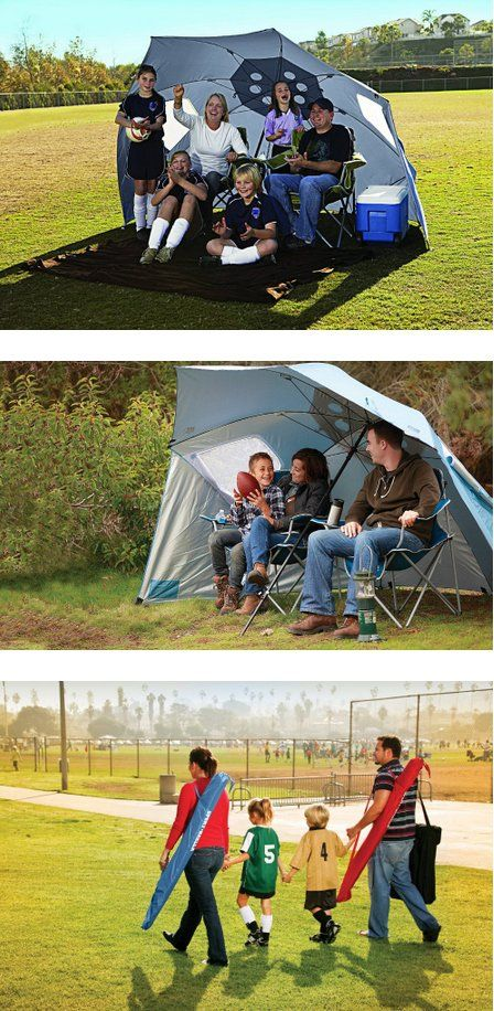 Sport-Brella XL – Portable Sun and Weather Shelter – $46. Good choice for the beach.