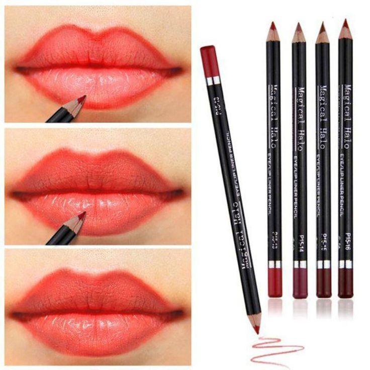 جديد الأعلى الأزياء التجميل تخطيط الشفاه قلم رصاص الأزياء ماكياج للماء الساخن سهلة لرسم خط دقيق رقيقة آن