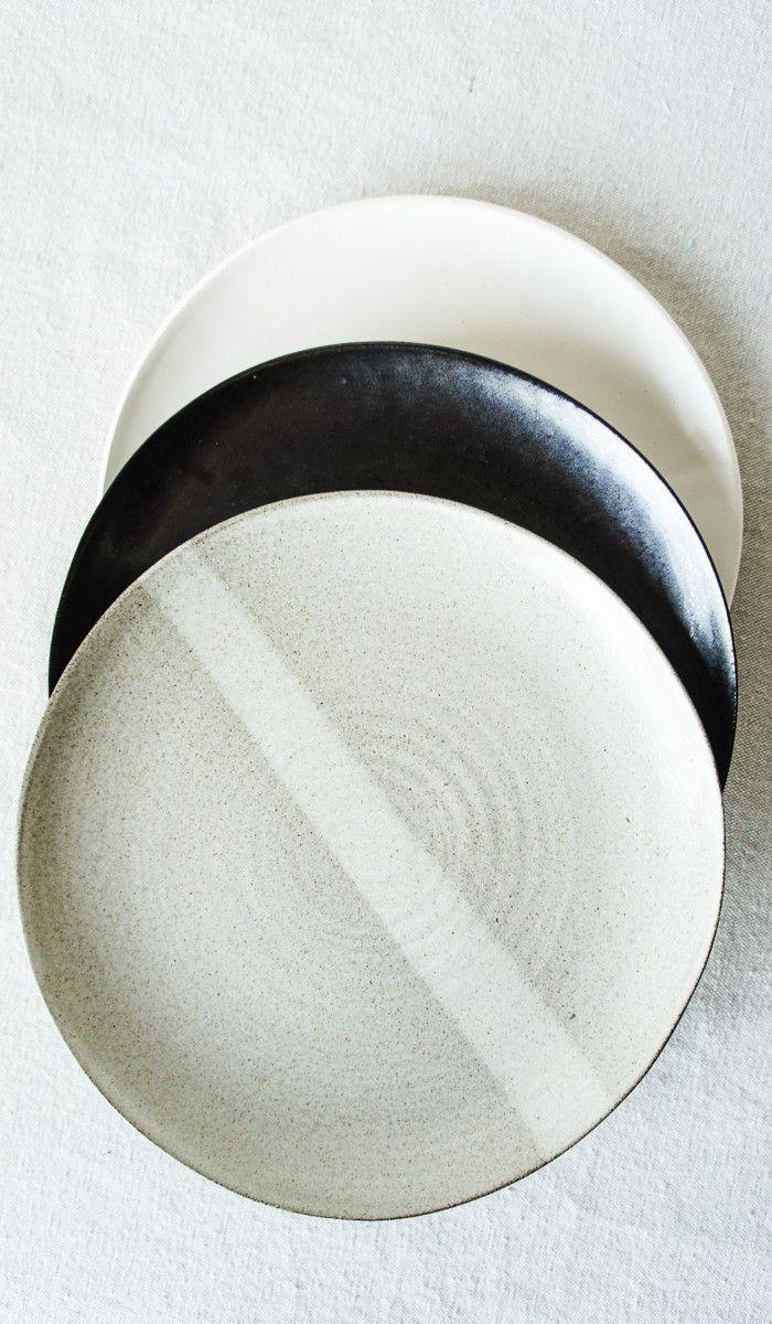 Set of 4 Eric Bonnin Black Plates