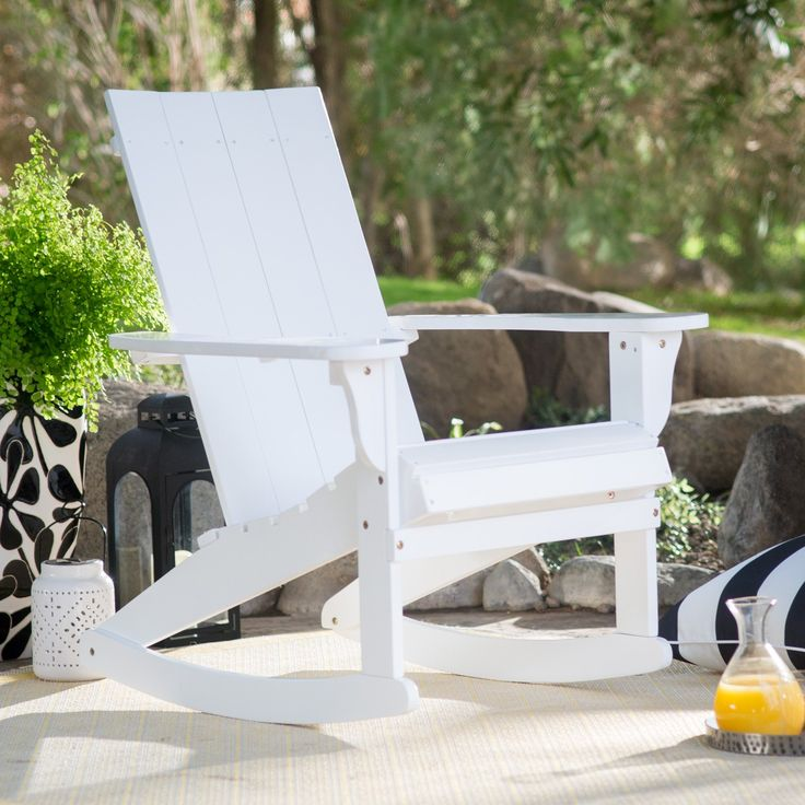 Modern White Outdoor Furniture best 20+ modern outdoor rocking chairs ideas on pinterest | garden