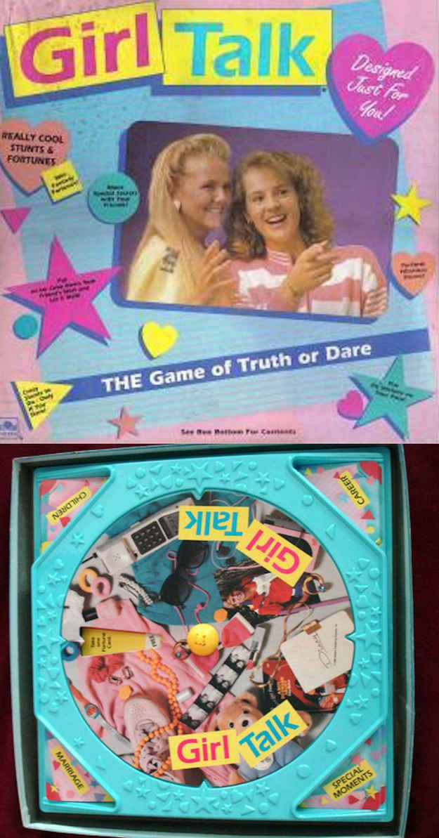 Girl Talk, omg I had this game and it was the best ever! Haha, also this is a list of girl's toys from the 90s, brought back  so many memories!  :)