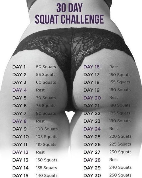Starting our 30 DAY SQUAT CHALLENGE today! Who's ready for summer ?! #squat #fitness
