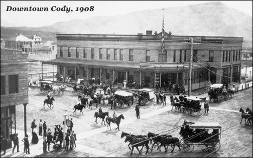 Historic Lodging Cody Wyoming downtown Cody Irma Hotel 1908