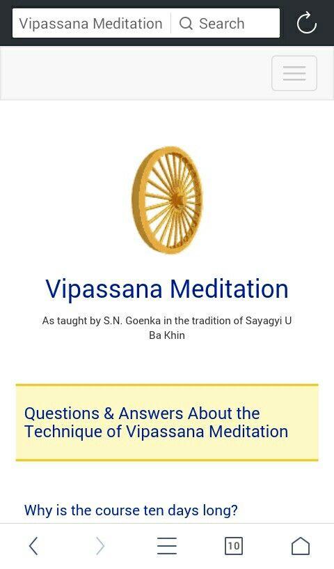 vipassana meditation technique in hindi pdf