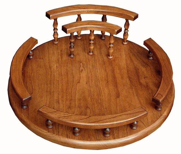 Solid Wood Custom Lazy Susan With Napkin Holder