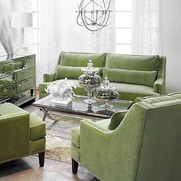 i love these velvet sofas