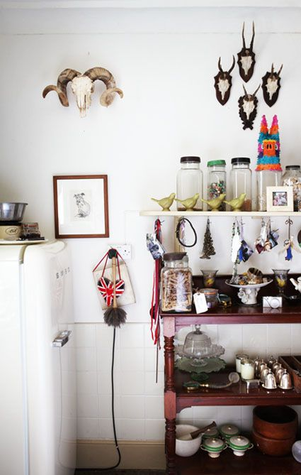gorgeous collection on display...from geraldine james' new book creative walls