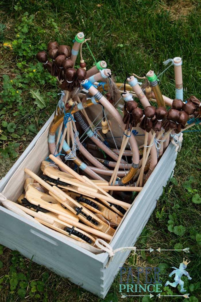 Guns & Bows + Arrows from a Rustic Cowboys & Indians Birthday Party via Kara's Party Ideas | KarasPartyIdeas.com (11)