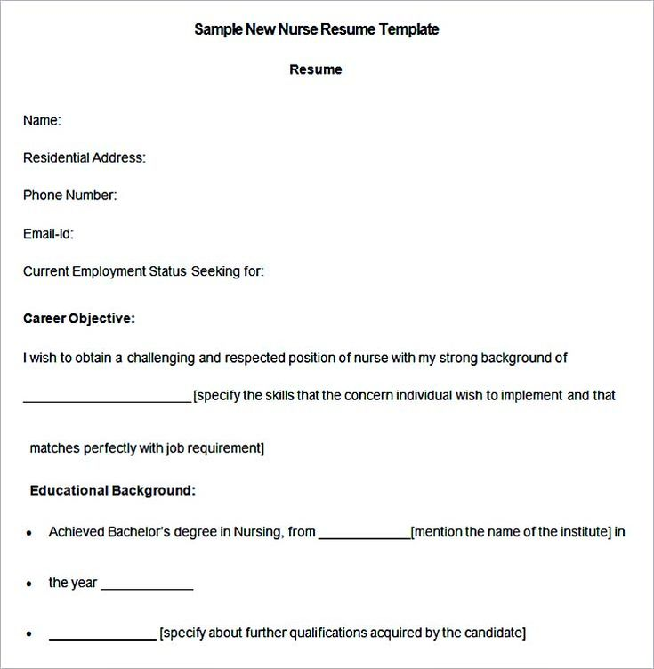 Sample New Nurse Resume Template , Nurse Resume Template and General Resume Writing Tips , Use the nurse resume template as your reference and guide when you are writing your own. The ideal resume can help you land a chance for an interview,...