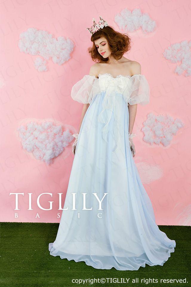 【楽天市場】ウェディングドレス_ウエディングドレス_カラードレス_Aライン_TIGLILY BASIC(cb006):ブライダルアモーレ