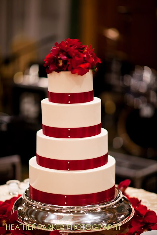 wedding cakes in red ribbon 1000 images about favorite wedding details for 24756