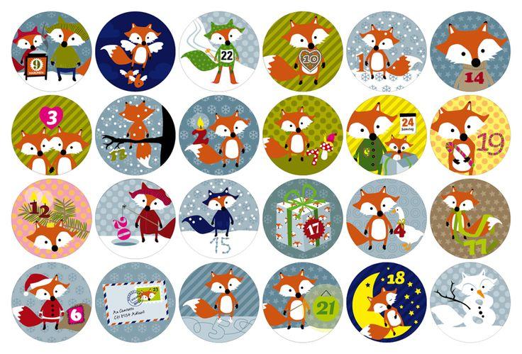 calendrier de l'avent http://kathrinarens.blogspot.ch/2011/11/weihnachtskalender-fuchs.html