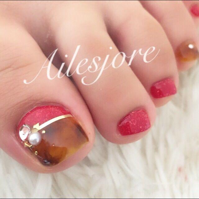 ネイル ネイルアート 春ネイル フラワーネイル ネイルサロン nails nailart Springnail flowernail nailsalon フットネイル footnail toes べっ甲