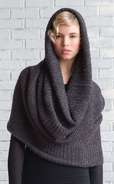 Cowl scarf - not sure if I'd actually wear this, but it looks cool.