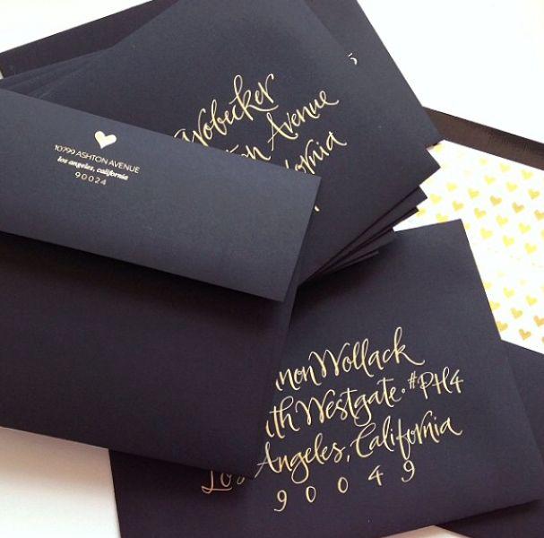 Sugar Paper LA Classy Fun Invitaions Wedding Invitations Gold Lettering Stationary Matte
