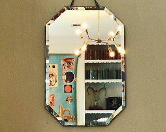 Mirror Art Deco mirror wall mirror hanging mirror pair of bathroom vanity mirrors antique mirror vintage mirror frameless mirror beveled
