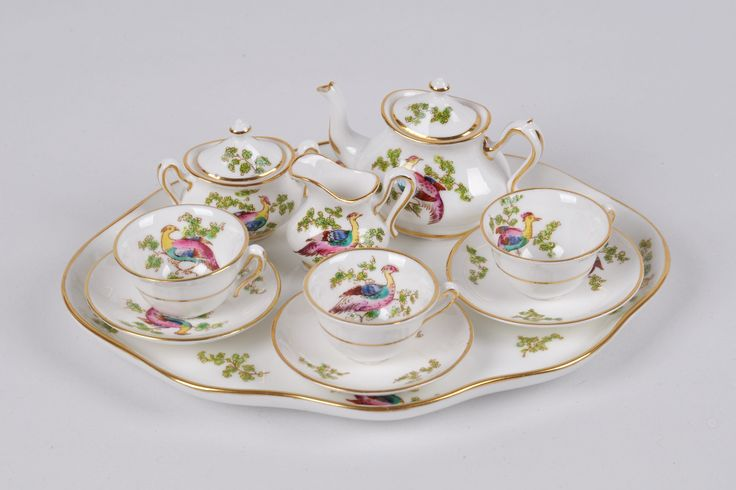 "Miniature tea set Crom Staffordshire ""Phoenix"""