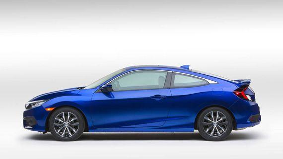 Купе Honda Civic Coupe 2016 / Хонда Сивик Купе 2016 – вид сбоку