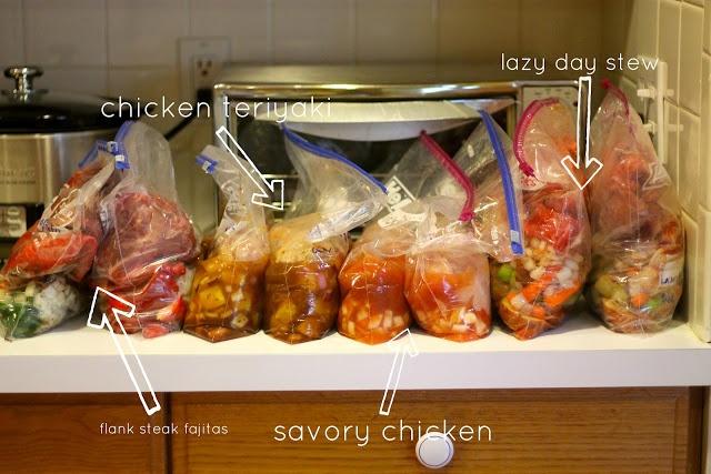 Crock Pot freezer meal. Beef and lentil stew sounds good.
