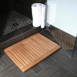 @Overstock - This teak shower mat is constructed of Grade A and B teak wood and showcases a stylish natural finish. Perfectly machine made, this teak mat is a gorgeous complement to any pool, spa, sauna, shower or bath. http://www.overstock.com/Bedding-Bath/Premium-Plantation-Teak-Shower-Floor-Mat/5657450/product.html?CID=214117 $63.99