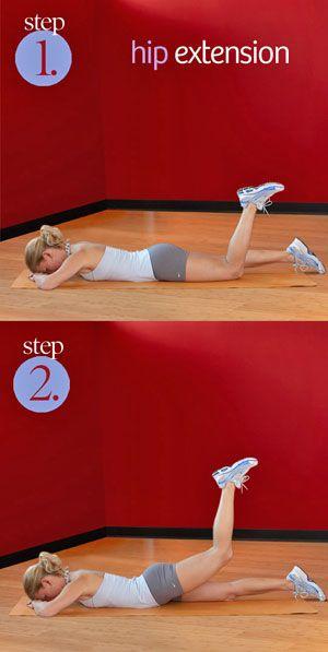 Las caderas y muslos ejercicio entrenamiento piso extensión - para mí, una cadera rígida en el lado de mi lesión de rodilla se ha limitado mi capacidad de volver a una puerta normal.