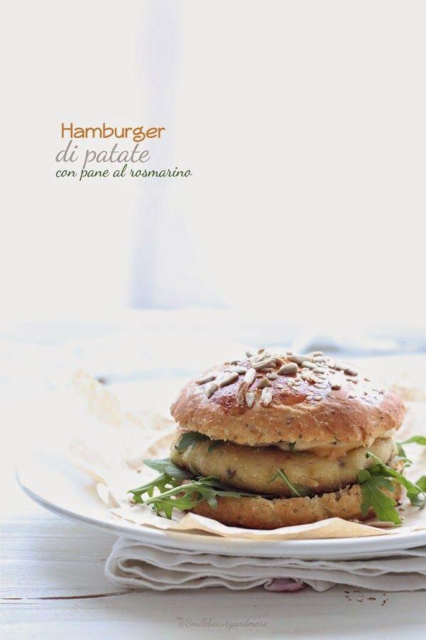 Potato veggie burgers on homemade rosemary bread buns (veggie) | Smile Beauty and More.