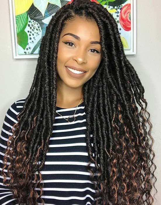 51 Goddess Braids Hairstyles for Black Ladies