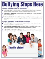 "Printable ""Bullying Stops Here"" pledge for kids -- great for National Bullying Prevention Month (October) or anytime. Help break the cycle! #bullying #bts"