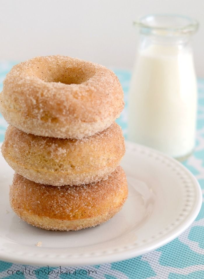 These mouthwatering Cinnamon Sugar Donuts are baked, not fried!