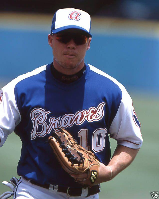 buy popular f2ae3 9ece8 Chipper Jones | Baseball!! | Braves baseball, Mlb uniforms ...