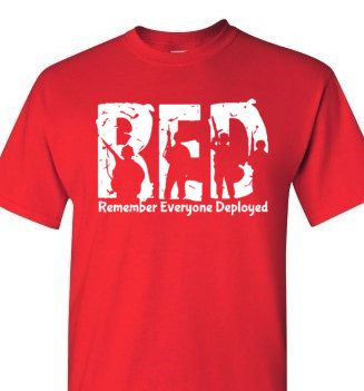 Red Friday Shirt. Wear for our deployed service members. , I found this really awesome Etsy listing at https://www.etsy.com/listing/258854783/new-wear-red-friday-shirt-remember