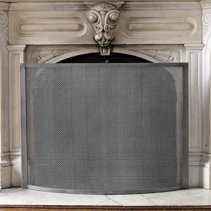 Fireplace Design brushed nickel fireplace screen : The 25+ best Contemporary fireplace screens ideas on Pinterest