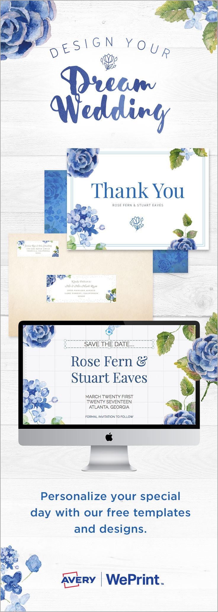 Get 20% off your order with code WED17. Expires 3/15/17. Design your dream wedding with Avery WePrint™.