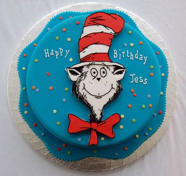 22 Best Images About Cat In The Hat Cakes On Pinterest
