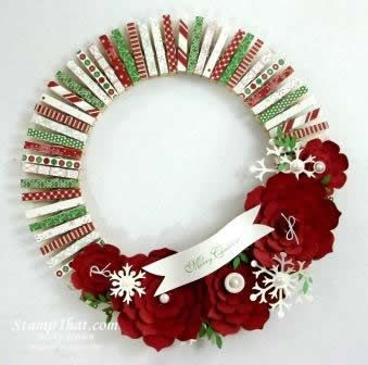 Stampin' Up! Christmas Wreath  by Becky Jensen at Stamp That