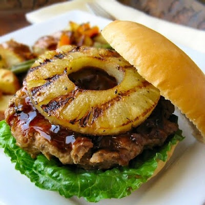 The Other Side Of Fifty: Teriyaki Turkey Burgers With Grilled Sesame Pineapple