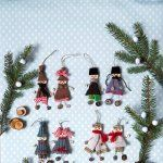 Des bonshommes de Noël en récup' Cagette pour le corps, ficelle pour les bras et les jambes, bouts de tissus et de tricot pour les habiller et surtout boutons pour les pieds et les mains http://www.marieclaireidees.com/,des-bonshommes-de-noel-en-recup,2610153,1361.asp