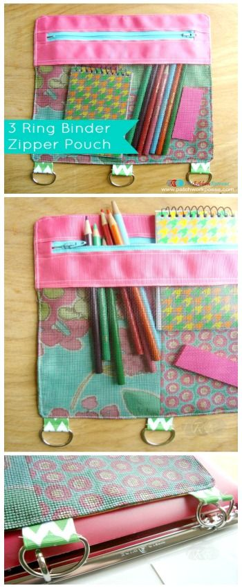 Binder Zipper Pouch - The Ribbon Retreat Blog