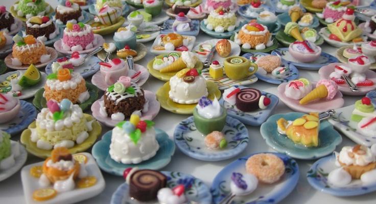 Gastrojoyas de fimo montadas sobre vajillas de porcelana - Vajilla de porcelana ...