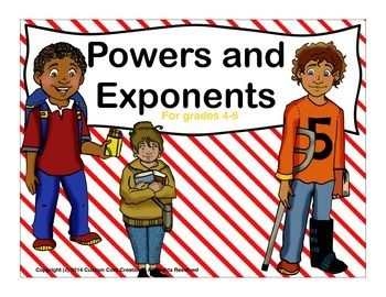 $Powers and Exponents practice will help your students master the use of powers and exponents. These practice problems are a great way for some of your strugglers to get extra practice with these two skills.This pack includes:3 practice pages writing exponents with answer keys.2 practice pages of writing exponents as a product and then finding value with answer keys.