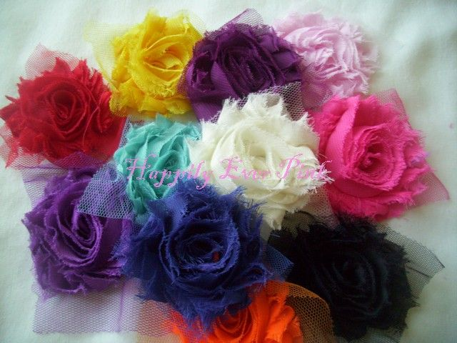 How to Make Lace Rosettes   Shabby Rosette Flowers-Single-shabby boutique flowers, shabby rosettes ...