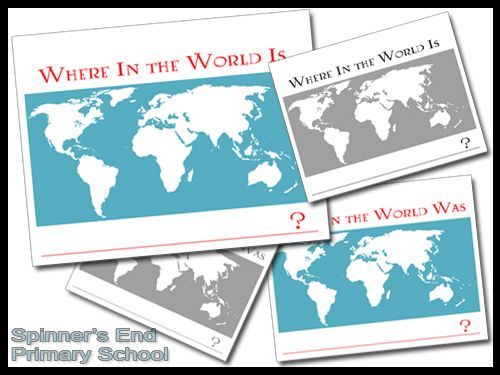 Where In the World Free Map Printables