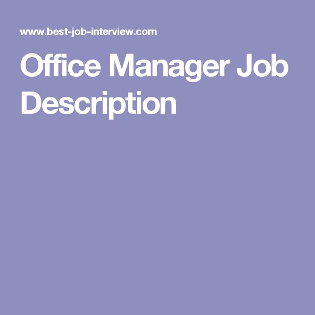The 25+ best Office manager jobs ideas on Pinterest Office - front desk job description