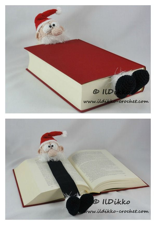 Adorable Santa Bookmark Crochet Pattern
