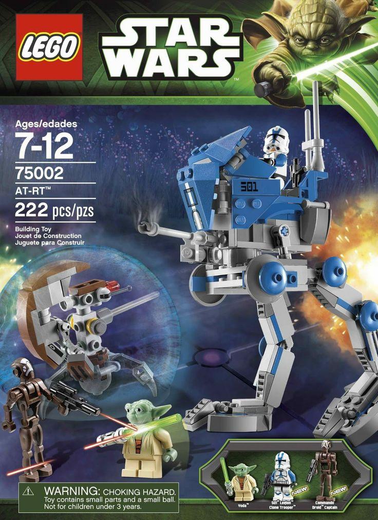 Precio: 21,99 € ( + 3,99 € envío) Lego 75002: AT-RT de la categoria Star Wars. Disponible en: http://www.playmoclicks.com/es/star-wars/47-at-rt.html