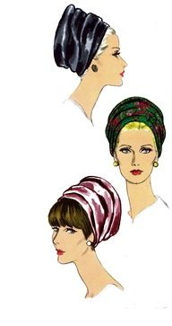 Halston Vogue vintage hat pattern