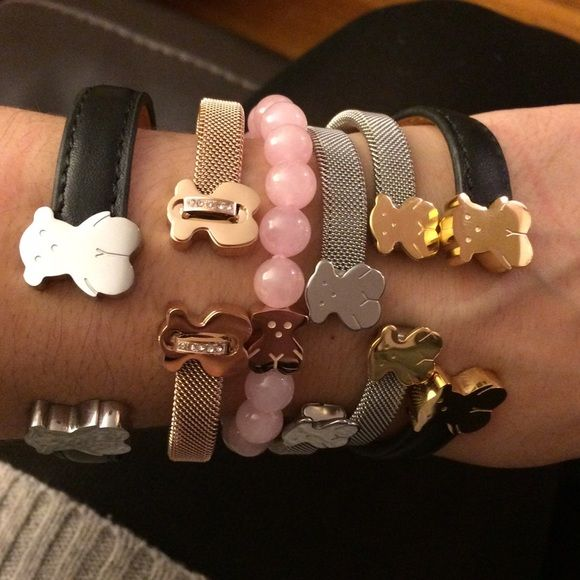 CHOOSE ONE FASHION BEARS FASHION BEARS ROSE GOLD, YELLOW AND WHITE GOLD PLATED over STAINLESS STEEL!! DOES NOT FADE Tous Jewelry Bracelets