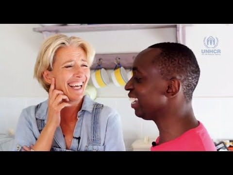 Emma Thompson & her son Tindy Agaba discuss family - 1/2. Just when I thought I couldn't love Emma Thompson anymore...! :)