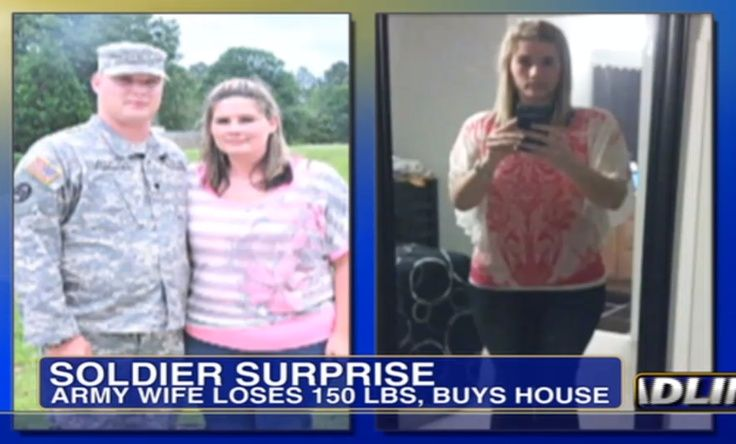 military wife's surprise weight loss leaves army husband a big winner